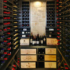 Beach Style Wine Cellar by Dan Luna Exceptional Woodworking