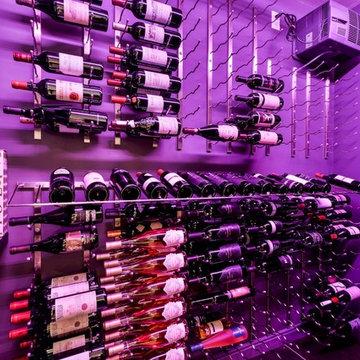 Montgomery Walk in wine cellar