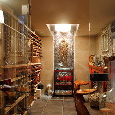 Transitional Wine Cellar by Esther Hershcovich