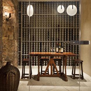 Inspiration for a contemporary wine cellar in Denver.