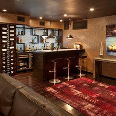Contemporary Wine Cellar by Kari Whitman Interiors