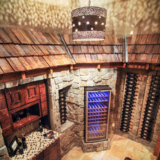 Rustic Wine Cellar by Aspen Homes