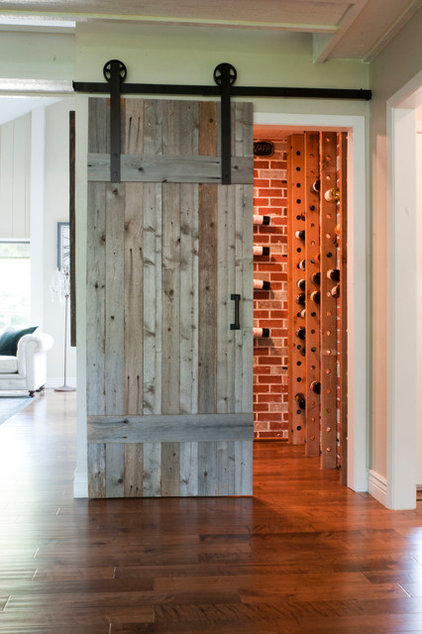 Transitional Wine Cellar by Angela Flournoy