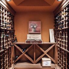 Transitional Wine Cellar by Becki Peckham