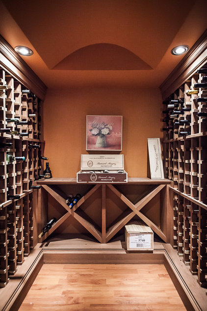 Transitional Wine Cellar by Becki Peckham