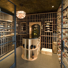 Contemporary Wine Cellar by Nadia Designs