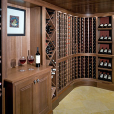 Traditional Wine Cellar by 1 plus 1 design