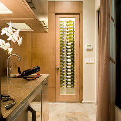 modern wine cellar by Phil Kean Designs