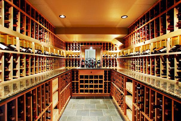 Modern Wine Cellar by Nerland Building & Restoration, Inc.