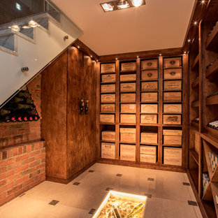 Design ideas for a classic wine cellar in Buckinghamshire with marble flooring and white floors.