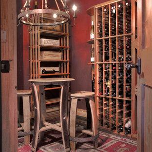 ミネアポリスのサンタフェスタイルのおしゃれなワインセラーの写真