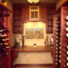 Traditional Wine Cellar by Newmyer Distinctive Remodeling