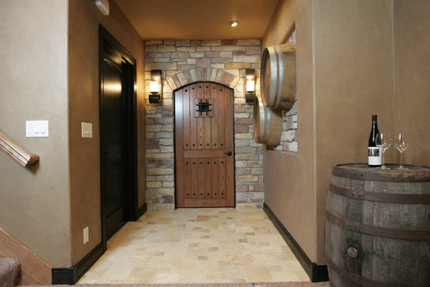Traditional Wine Cellar by Richards Construction, Inc.