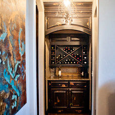 Traditional Wine Cellar by Huffman Construction