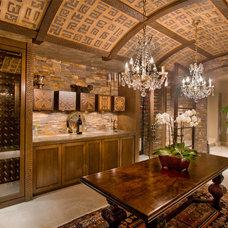 Contemporary Wine Cellar by David A. Kaech & Associates, Inc.