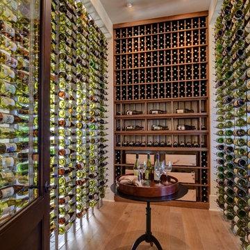Newport Beach, California Luxury Wine Room Glass Front Modern Custom Wine Cellar