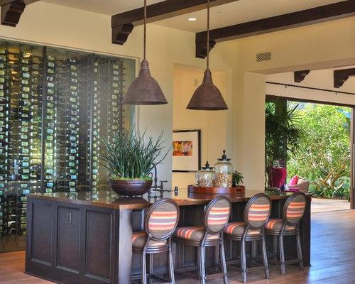 Wine Cellar   Large Modern Medium Tone Wood Floor Wine Cellar Idea In  Orange County With