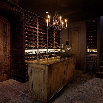 Newport Beach, Orange County Custom Wine Cellar with Vintique Wine Racking