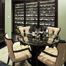 Contemporary Wine Cellar by David Rance Interiors
