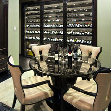 Contemporary Wine Cellar by David Rance Interiors