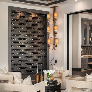 Newport Coast Mansion Wine Cellar and Wine Wall