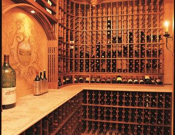 Newport Coast Orange County Rustic Traditional Wine Room Wine Cellar Wood Cellar