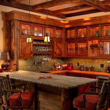 Traditional Wine Cellar by Dianne Joyce Design Company