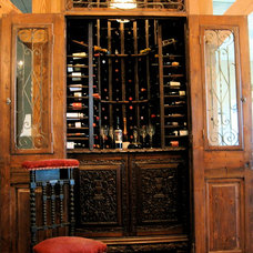 Eclectic Wine Cellar by Greeson & Fast Design