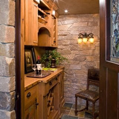 traditional wine cellar by Bruce Kading Interior Design