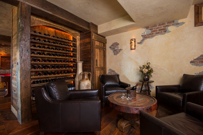 Contemporary Wine Cellar by MOUNT BACHELOR DESIGN STUDIO