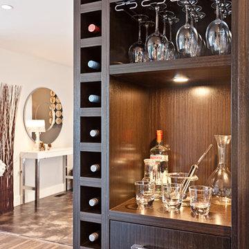 North Vancouver- Wine Cellar, Bar, Open shelving, Modern Living, Home Renovation