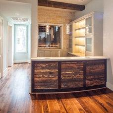 Contemporary Wine Cellar by Winfrey Design Build