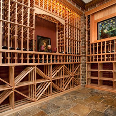 Traditional Wine Cellar by Oakley Home Builders