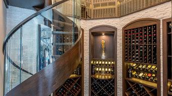 Ocala Wine Cellar with Petrified, Reclaimed Wood Floors