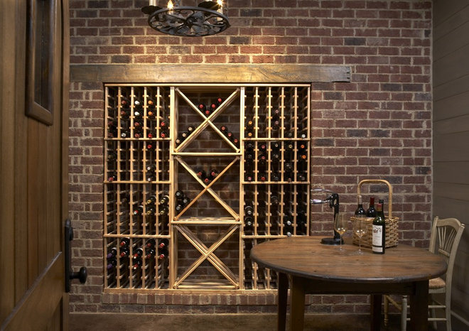 Rustic Wine Cellar by Structures, Inc.