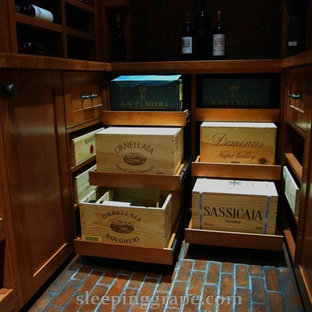Inspiration for a mediterranean wine cellar remodel in Vancouver