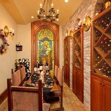 Mediterranean Wine Cellar by Gary Keith Jackson Design Inc