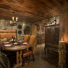 Rustic Wine Cellar by Locati Architects