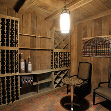 Traditional Wine Cellar by Weaver Custom Homes