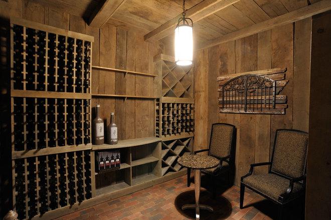 Traditional Wine Cellar by Weaver Custom Homes