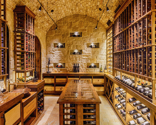 Track Lighting Wine Cellar Design Ideas Remodels Photos