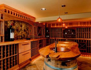 Opulent Wine Room