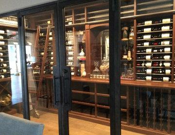 Orange County Contemporary  Residential Wine Cellar