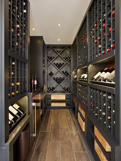 75 Transitional Wine Cellar Design Ideas - Stylish Transitional Wine ...