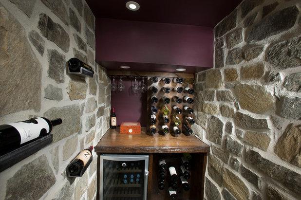Rustic Wine Cellar by Living Stone Design + Build