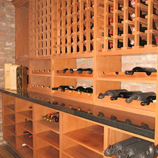 Modern Wine Cellar by Chelsea Construction Corporation