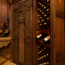 Tropical Wine Cellar by Tuggey Interior Design