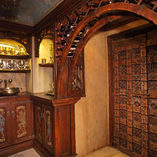 Eclectic Wine Cellar by Boyer Building Corporation