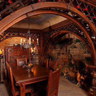 Example of an eclectic wine cellar design in Minneapolis