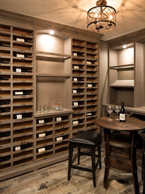 Houzz wine cellar with vinyl flooring design ideas for Wine cellar flooring options